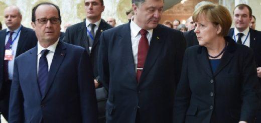 Порошенко, Меркель и Олланд решили актвизировать работу в нормандском формате