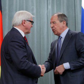 Донбасс и Сирия стали главными темами встречи Лаврова и Штайнмайера.