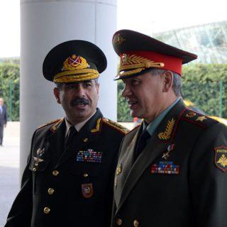 Министр обороны России Сергей Шойгу находится с рабочим визитом в Азербайджане.