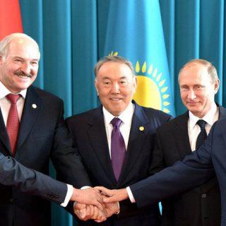 Назарбаев, Путин и Лукашенко