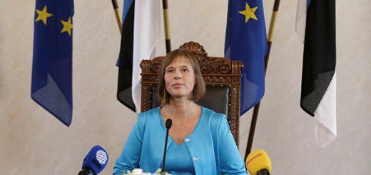 Сразу после своего избрания в Рийгикогу (эстонский парламент) президентом Эстонии Керсти Кальюлайд провела пресс-конференцию