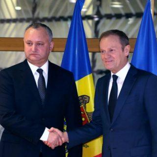 Президент Молдавии Игорь Додон вчера в Брюсселе провел переговоры с руководством Евросоюза и НАТО.