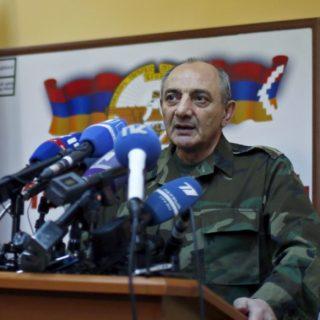 Президент непризнанной республики Бако Саакян.