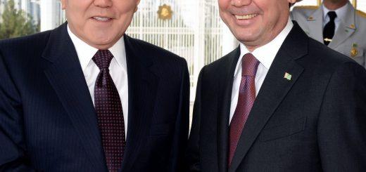 Нурсултан Назарбаев и Гурбангулы Бердымухамедов