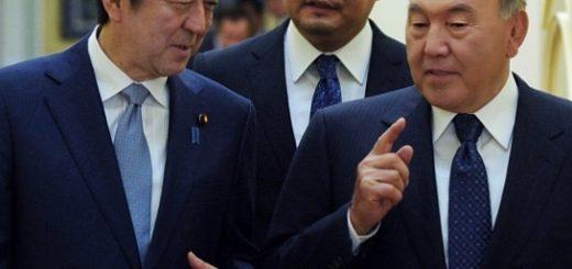 Назарбаев и Абэ