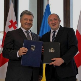 Президенты Украины и Грузии