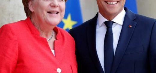 Меркель и Макрон