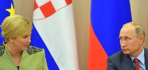 президенты Хорватии и России