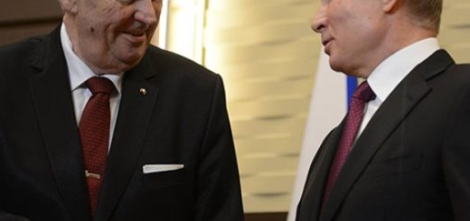 Милош Земан и Владимир Путин