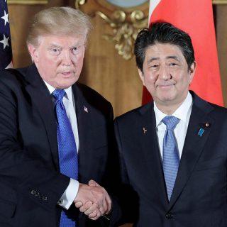 Трамп и Абэ