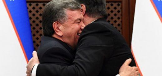 Шавкат Мирзиеев и Эмомали Рахмон