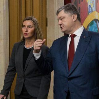 Могерини и Порошенко