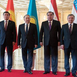Президенты Казахстана, Кыргызстана, Таджикистана и Узбекистана