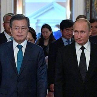 Путин и Мун Чжэ Ин