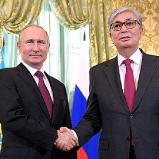 Путин и Касым-Жомарт Токаев