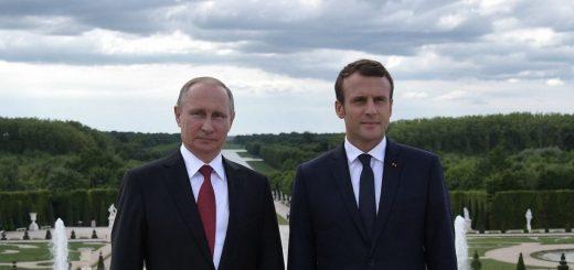 Путин и Макрон