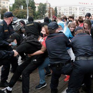 Протесты студентов в Минске