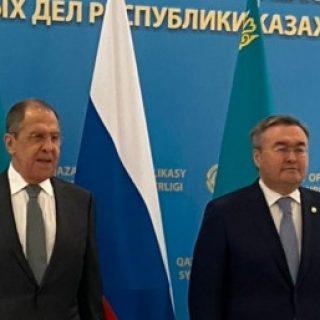 Сергей Лавров и Мухтар Тлеуберди